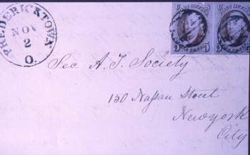 First U.S. Stamp used at Fredericktown