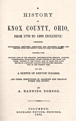 Norton-History of Knox Co., Ohio