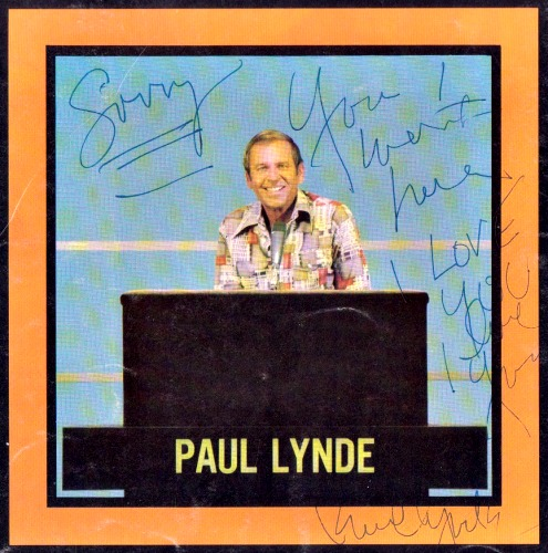 "Signed by Paul, from ""Hollywood Squares"""
